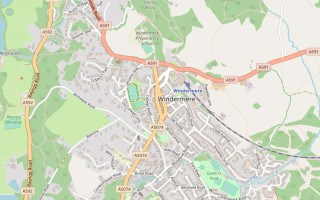 Map of Winderemere town