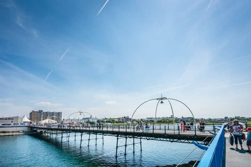 Photograph of Southport Pier and Marine Lake, Southport, Merseyside