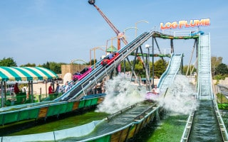 Log Flume ride at Southport Pleasureland