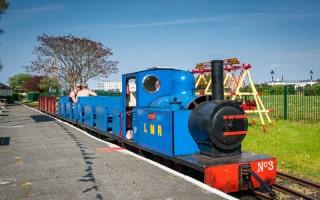 Lakeside Miniature Railway train at Pleasureland Station, Southport