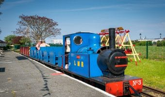 Lakeside Miniature Railway train at Pleasureland Station, Southport