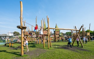 Tree Top Towers adventure play area in King's Gardens, Southport