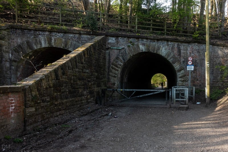 Tunnel entrance to Borsdane Wood at Hindley Mill Lane