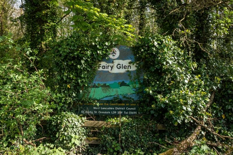 Entrance to Fairy Glen, Appley Bridge