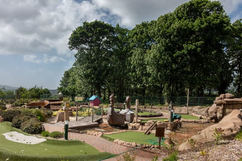 Adventure golf course at Haigh Woodland Park, Wigan