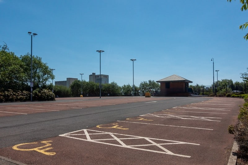 Park-and-ride car park at Ladywell Metrolink