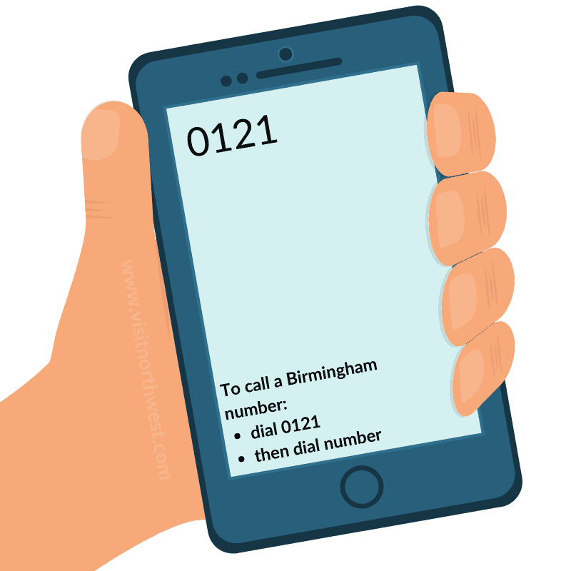 0121 Area Code - Birmingham Dialling Code
