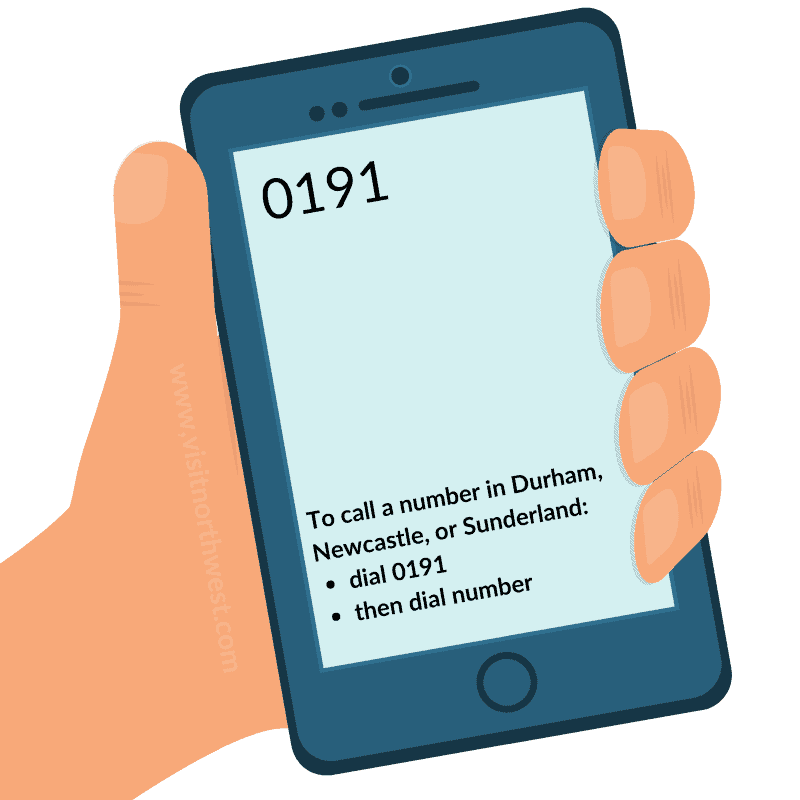 0191 Area Code - Durham, Newcastle, Sunderland Dialling Code