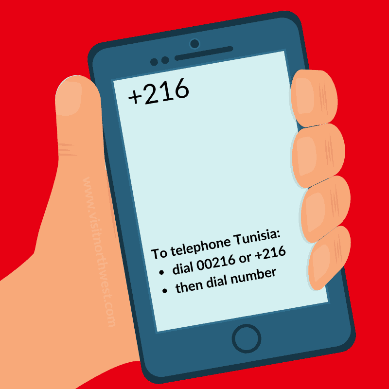 Tunisia Country Code +216 00216
