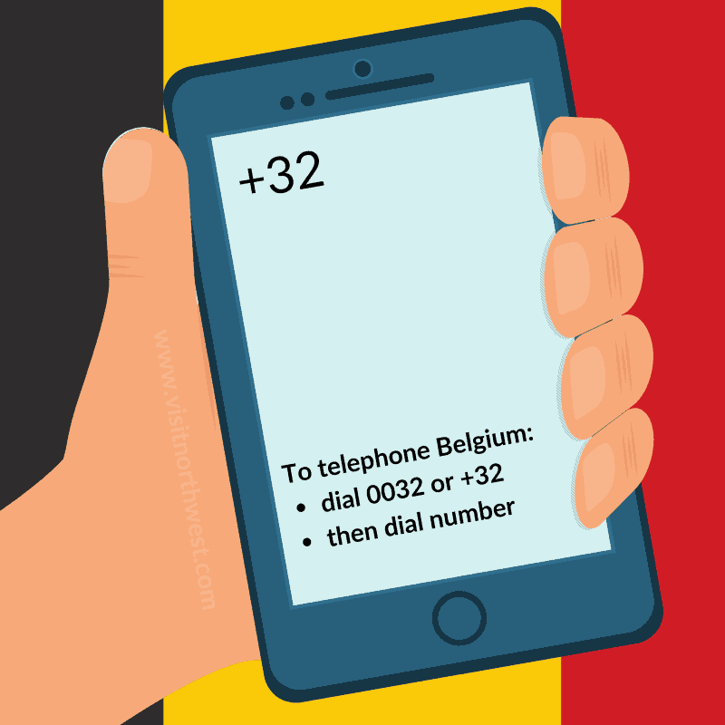 Belgium Country Code +32 0032