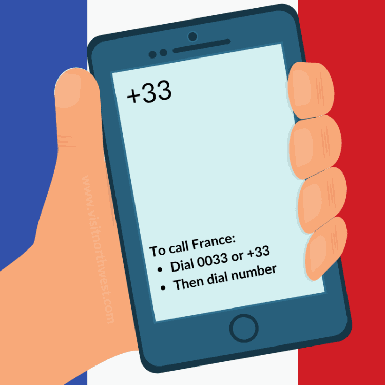 France Country Code +33 0033