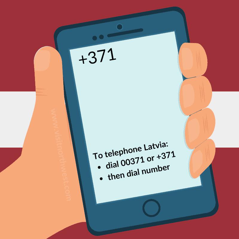 Latvia Country Code +371 00371