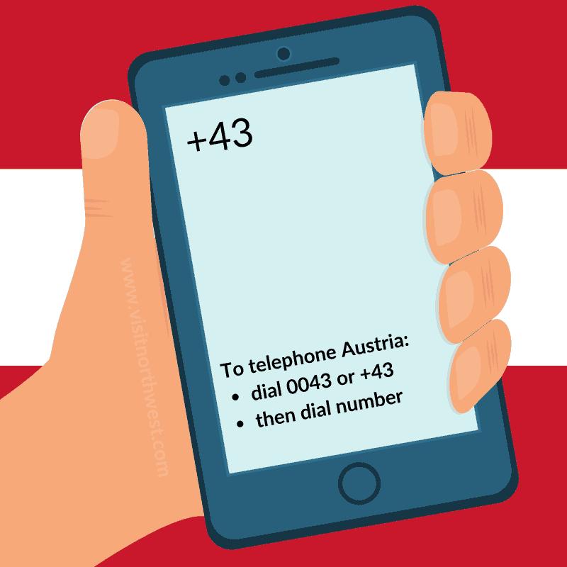 Austria Country Code +43 0043