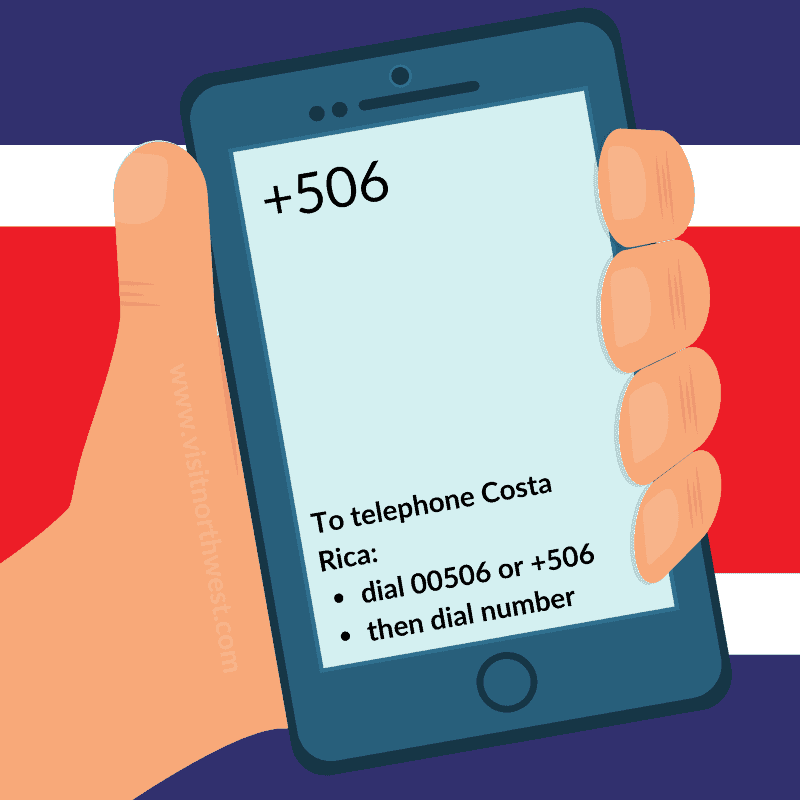 Costa Rica Country Code +506 00506