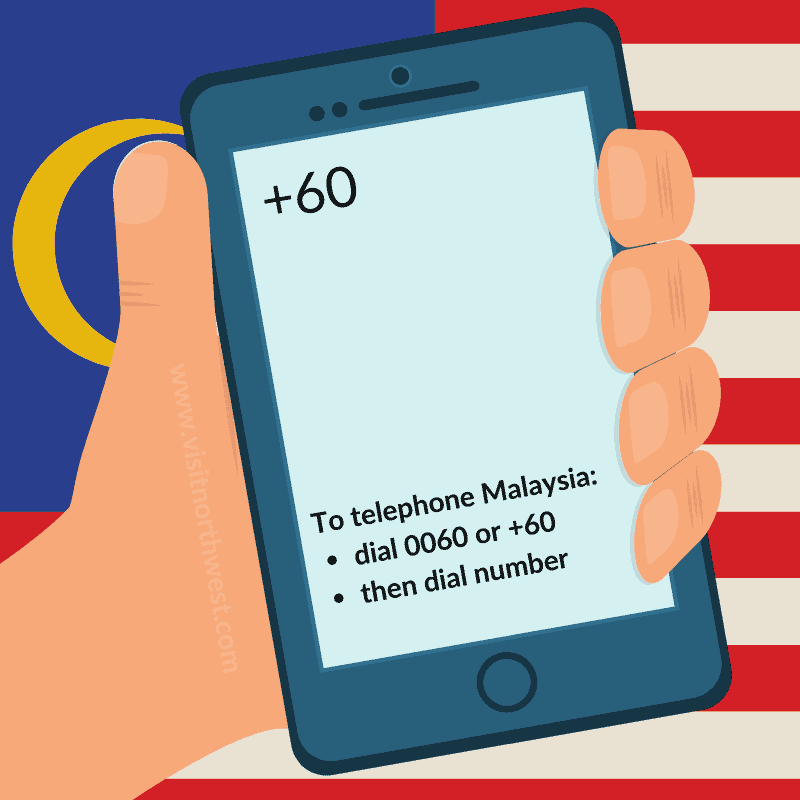Malaysia Country Code +60 0060