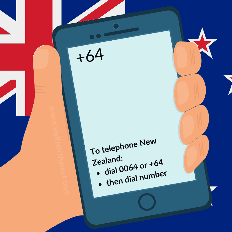 New Zealand Country Code +64 0064