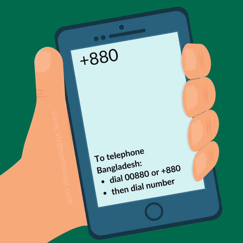 Bangladesh Country Code +880 00880