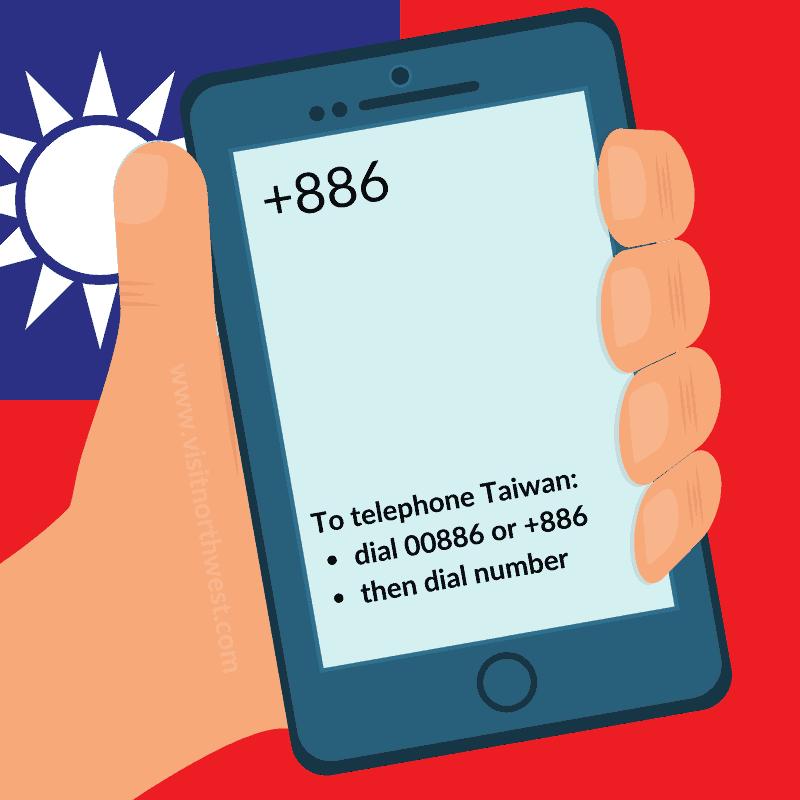 Taiwan Country Code +886 00886