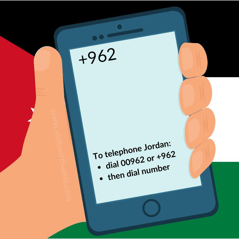 Jordan Country Code +962 00962