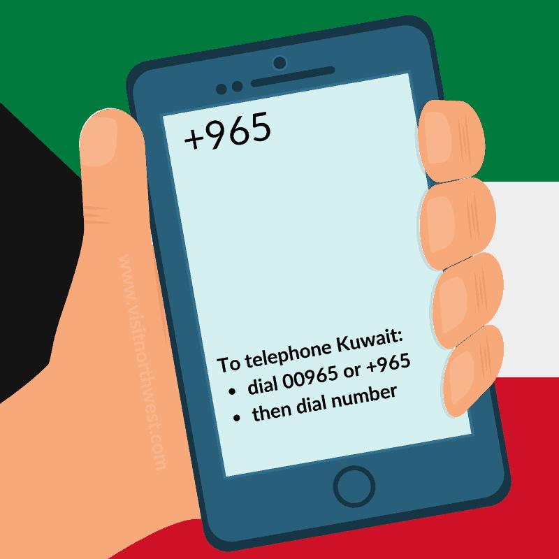 Kuwait Country Code +965 00965