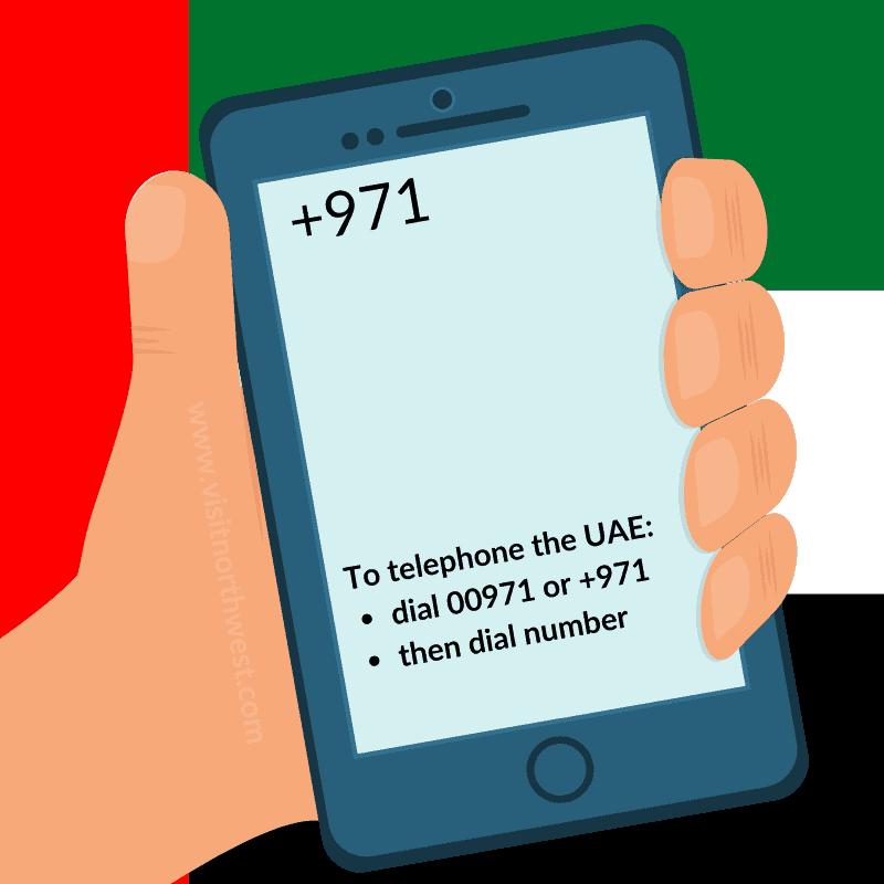 UAE Country Code +971 00971