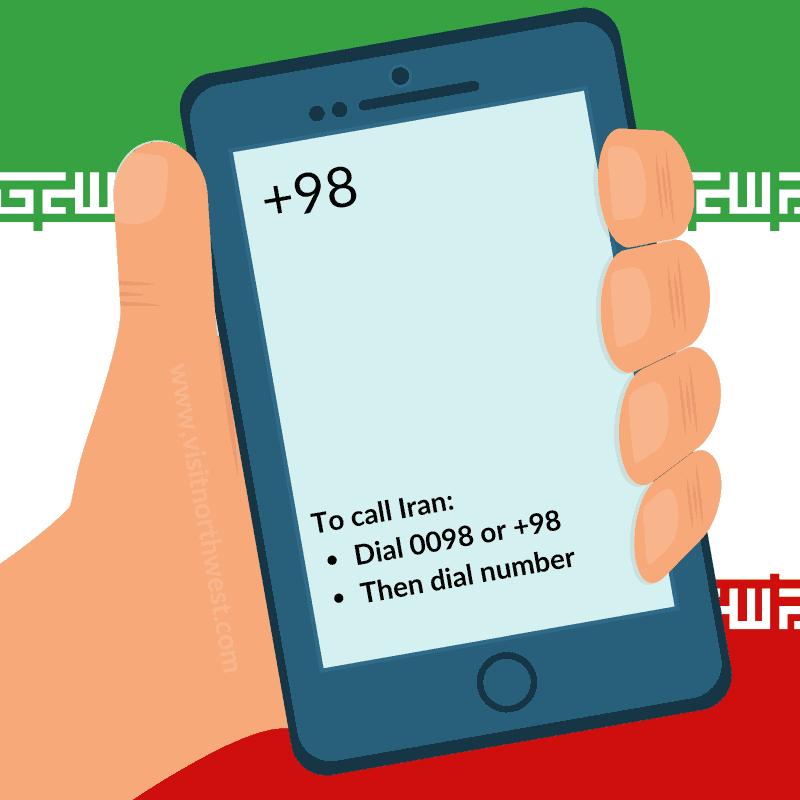 Iran Country Code +98 0098