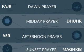 Muslim prayer times in Chester, UK