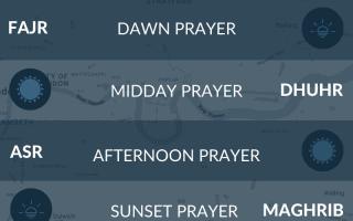 East London prayer times. Fajr, namaz, maghrib, salah times.
