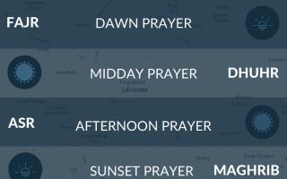 Prayer times in Leicester, UK. Salah times.
