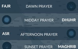 Liverpool salah times. Muslim prayer times for Liverpool, UK. Namaz, asr, maghrib, fajr times.