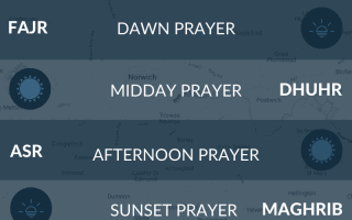 Muslim prayer times in Norwich today. Salah, fajr, namaz, maghrib, asr times.
