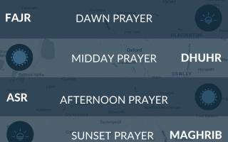 Salah times Oxford. Muslim Islamic prayer times. Salah, asr, fajr, namaz times for Oxford, UK.
