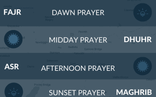 Muslim and Islamic prayer times for Penrith, Cumbria.
