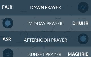 Muslim prayer times for Peterborough. Namaz, salah, fajr, asr times.