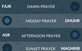Muslim prayer times for Stockport, Greater Manchester. Salah, fajr, namaz, asr times.