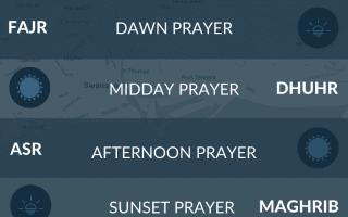 Islamic prayer times for Swansea, Wales. Namaz, salah, fajr, asr, maghrib times.