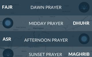 Warrington prayer times - salah, namaz, fajr, maghrib, asr