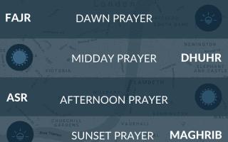 West London prayer times - maghrib, fajr, salah, maghrib