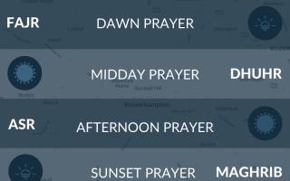 Prayer times Wolverhampton - fajr, namaz, salah, asr, maghrib