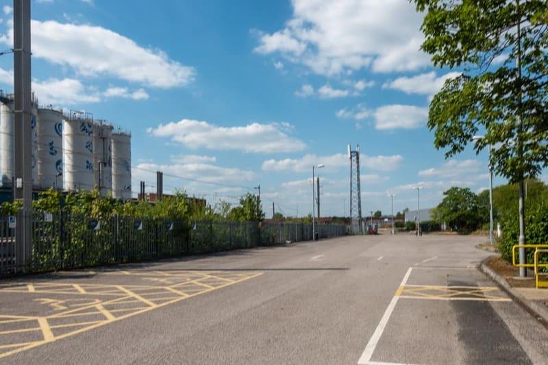 Car park on Parket Street at Warrington Bank Quay Train Station