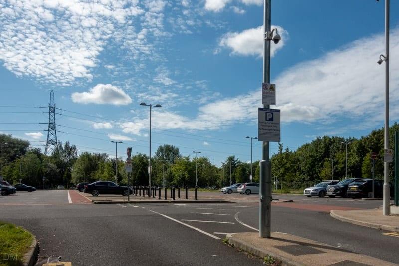 Park-and-ride car park at Sale Metrolink Tram Stop