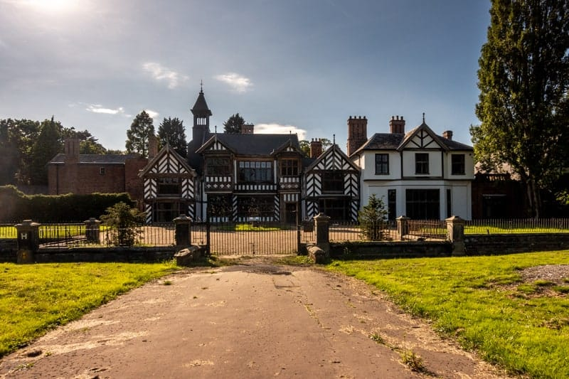 Front view of Wythenshawe Hall