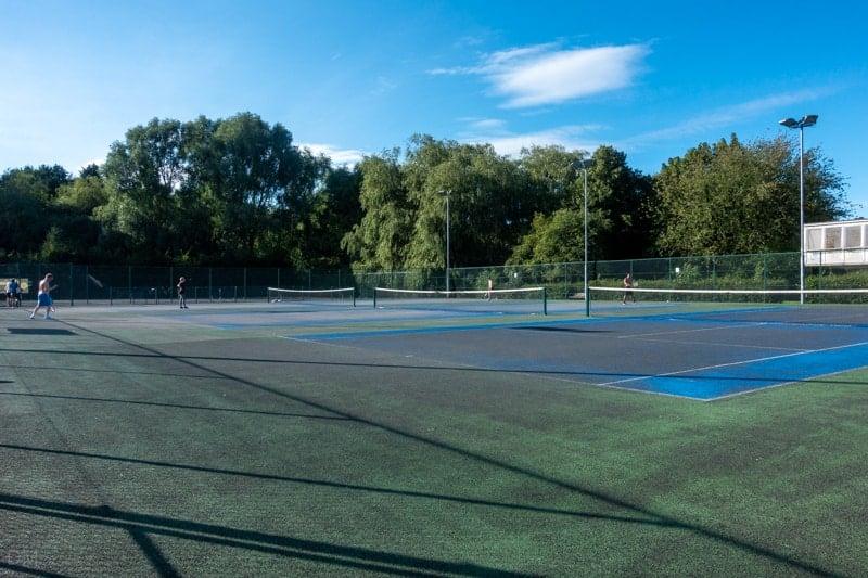 Tennis courts at Wythenshawe Park, Manchester