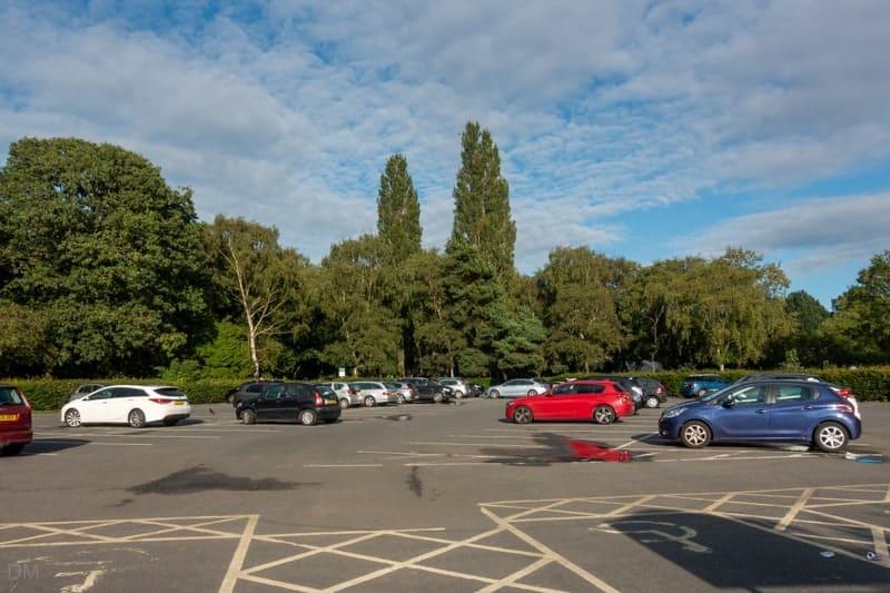 Car parking at Wythenshawe Park, Manchester