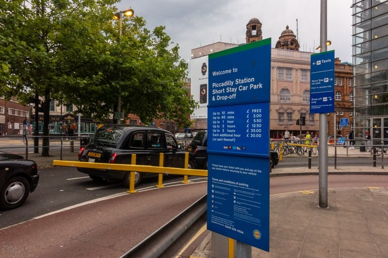 Short stay parking at Manchester Piccadilly Train Station