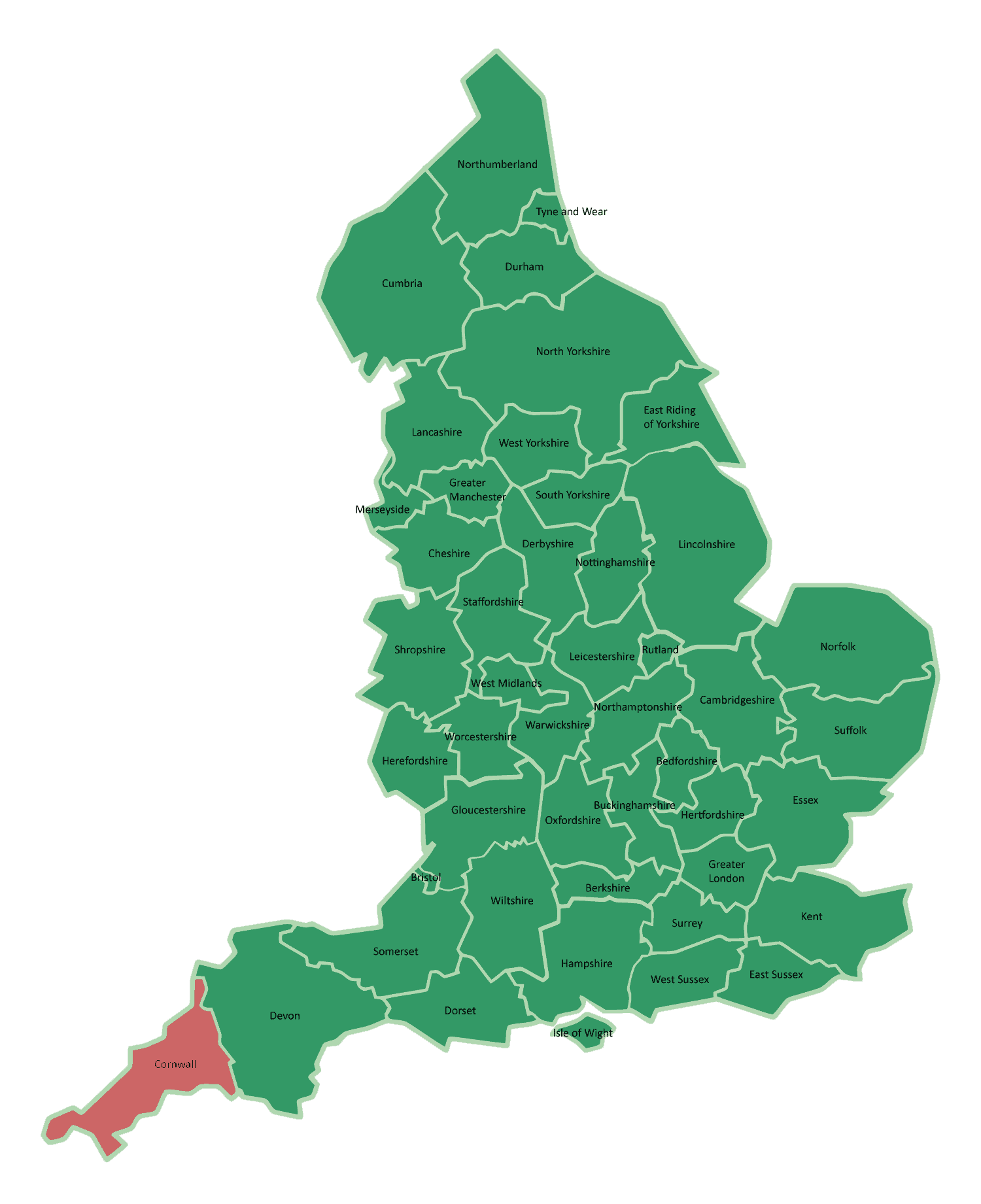 Interactive Map Of Cornwall, England - Download Free ...