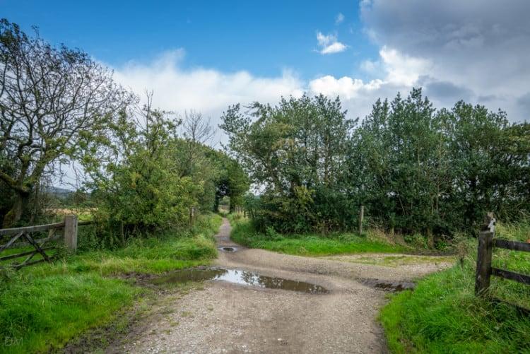 Footpath from Heapey Fold Lane