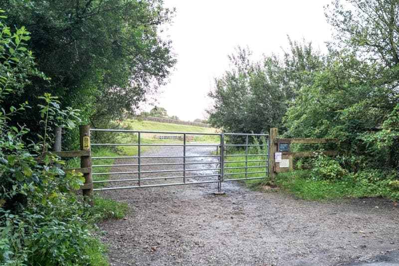 Gate at end of Charnock Embankment