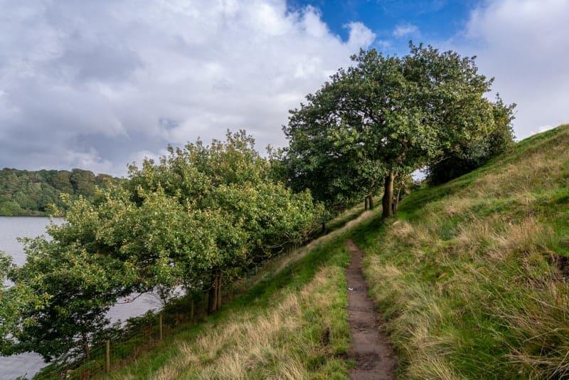 Path along western side of Anglezarke reservoir