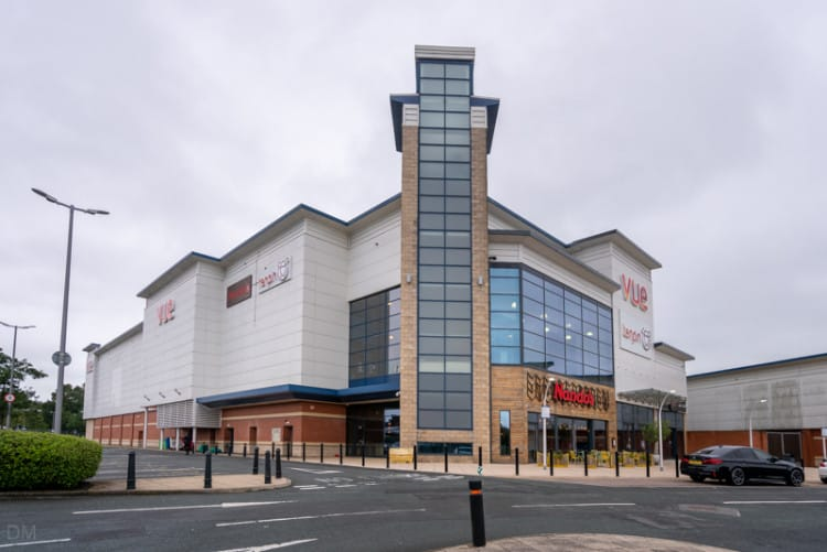 Vue Cinema, Nando's, and Tenpin, Peel Centre, Blackburn, Lancashire